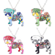 Cute Enamel Pug Necklace - 50% OFF Today! - My Passion Street