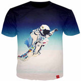 3D Space Astronaut T-Shirt