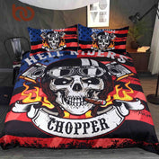 Hell Riders Chopper Bedding Set - My Passion Street