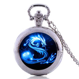 Blue Dragon Glass Dome Watches
