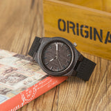 Black Ebony Wooden Watch - My Passion Street