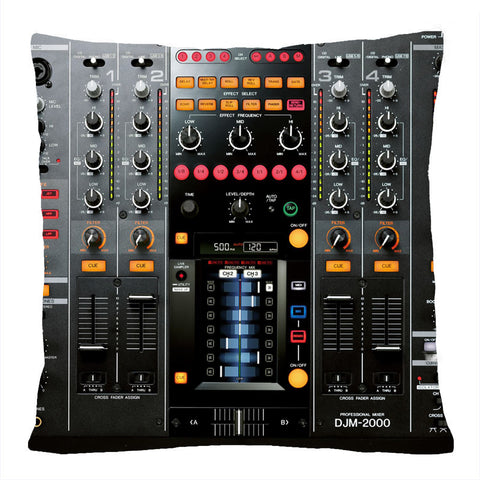 3D DJ Music Control Pillow Case