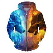3D Ice and Fire Wolf Hoodies - 50% OFF TODAY