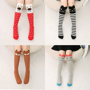 Cute Cat High Knee Socks - Set of 4 Pairs - My Passion Street