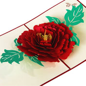 3D Peony Mother's Day Greeting Card