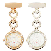 Crystal Heart Fob Watch - My Passion Street