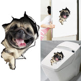 3D Funny Dog Wall Sticker