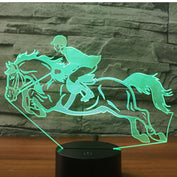 """The Horse Rider"" 3D Lamp - 50% OFF - My Passion Street"