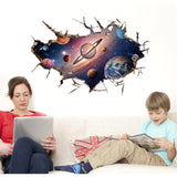 3D Astronaut Galaxy Wall Stickers - My Passion Street