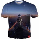 3D Space Astronaut T-Shirt - My Passion Street