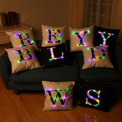 Letter Printed LED Pillow Covers - 50% OFF TODAY - My Passion Street