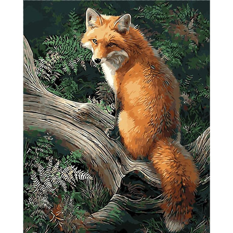 DIY Red Fox Paint By Numbers