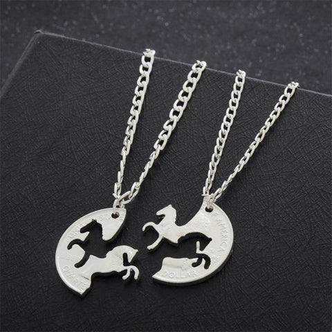 Running Horse Puzzle Necklaces