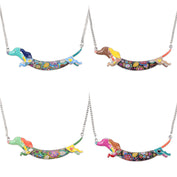 Cute Enamel Dachshund Necklace Chain - My Passion Street