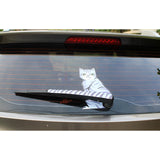 3D Printed Cat Car Wiper Decal