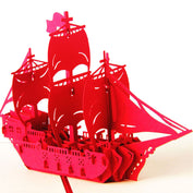 3D Pirate Ship Greeting Card