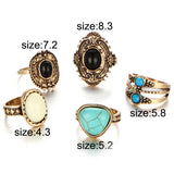 Antique Steampunk Ring Set - My Passion Street