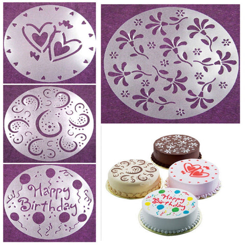 4pcs Cake Decorating Stencil - 50% OFF TODAY!