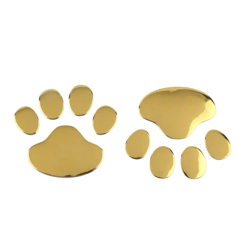 3D Metallic Dog Paw Car Decal - My Passion Street