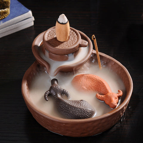 Cattle Purple Clay Incense Burner