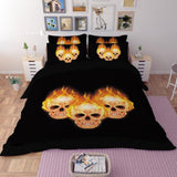 Blazing Skull Duvet Cover Sets - 50% OFF TODAY - My Passion Street