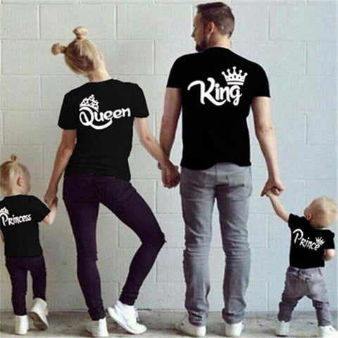 King and Queen Family Crown Shirts