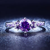 Purple Amethyst Diamond Ring - 50% OFF Today! - My Passion Street