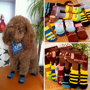 Anti-Slip Knit Weave Warm Dog Socks - My Passion Street