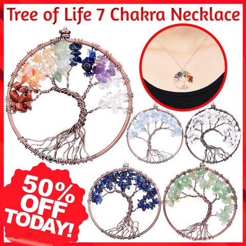 Crystal Tree of Life Pendant Necklace - 60% OFF!