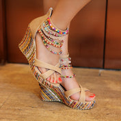 High Heeled Bohemian Sandals - 50% OFF - My Passion Street