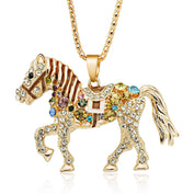 Austrian Enamel Gold Horse Necklace - My Passion Street