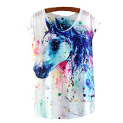 Summer Watercolor Horse Shirt - My Passion Street