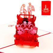 3D Wedding Carriage Invitation Card