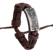 Engraved Viking Leather Bracelet - My Passion Street