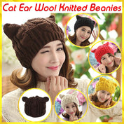 Cat Ear Wool Knitted Beanies - 50% OFF Today!