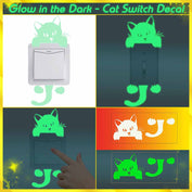 Glow in the Dark - Cute Cat Switch Decal *50% OFF Today!* - My Passion Street
