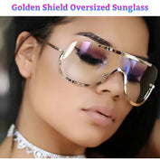 Golden Shield Oversized Sunglass - 50% OFF - My Passion Street