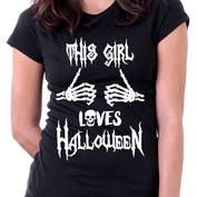 This Girl Loves Halloween T-shirt & Tank Tops - My Passion Street