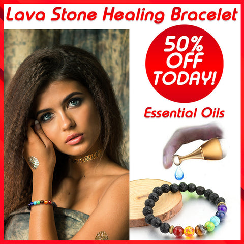 Lava Stone Healing Diffuser Bracelet - 50% OFF Today!