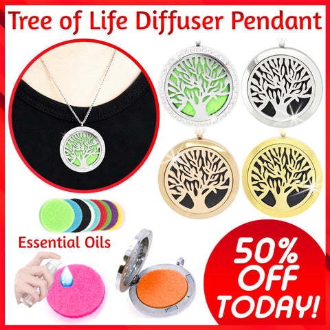 Tree of Life Diffuser Pendant - 50% OFF Today!