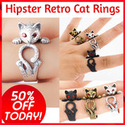 Hipster Retro Cat Rings - 50% OFF Today!
