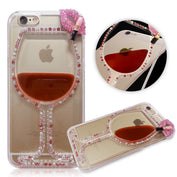 Red Rhinestone Wine Cup Iphone Case
