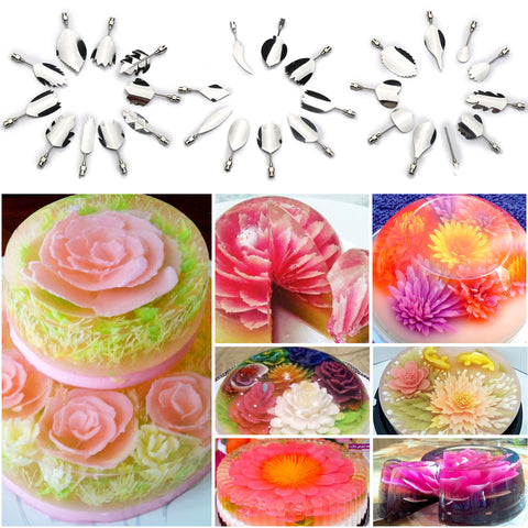 3D Jelly Flower Cake Decorating Tool Set- 65% OFF