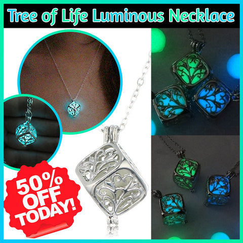 Tree of Life Luminous Necklace - 60% OFF Today!