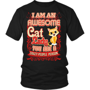 Awesome Cat Lady T-Shirt for Cat Lovers - My Passion Street