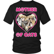 Mother of Cats Heart T-Shirt - 50% OFF Today!