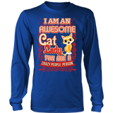 Awesome Cat Lady Long Sleeve T-Shirt for Cat Lovers