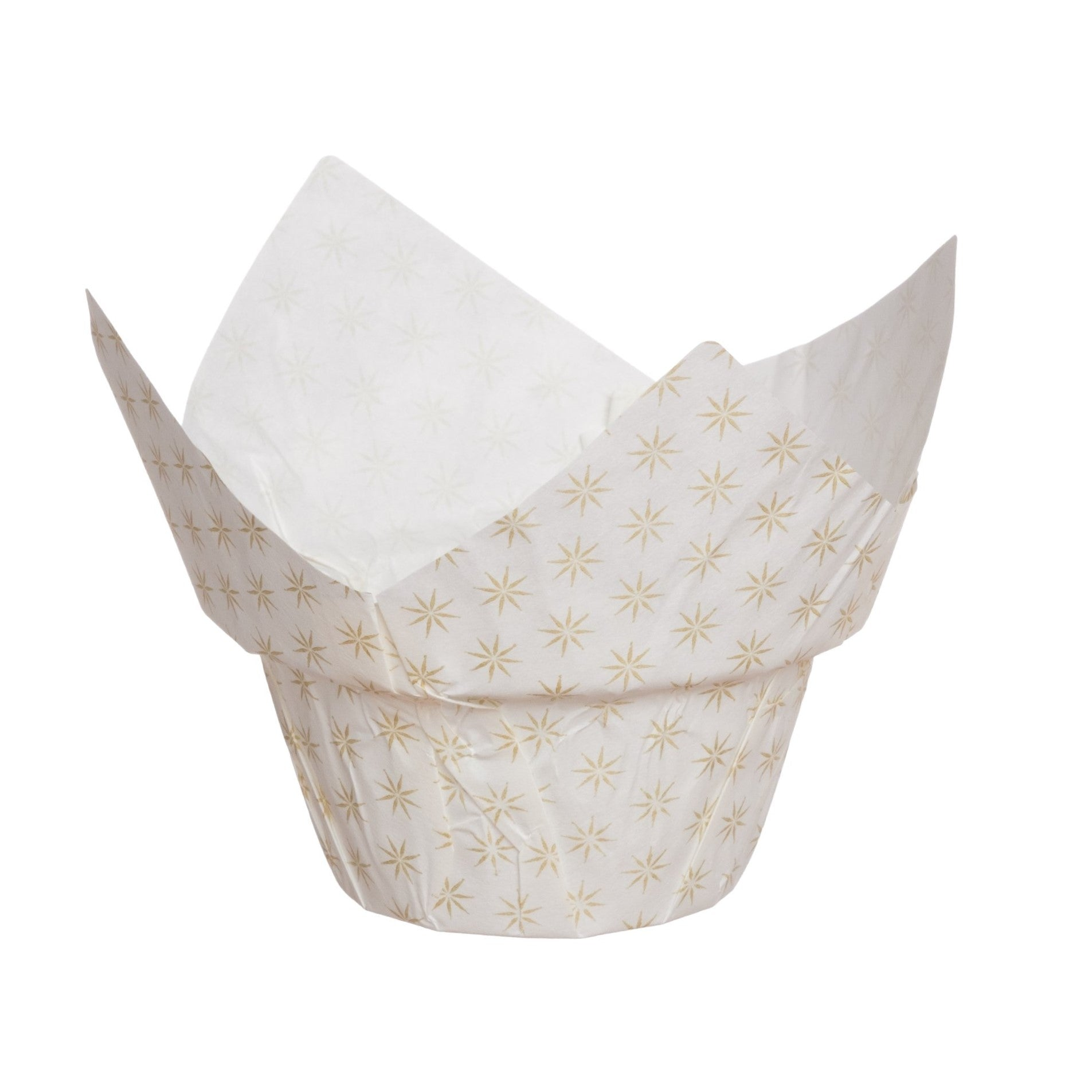 Muffin Baskets, High Crown Muffin Set, Chorus Gold/White (Set of 100) - Welcome Home Brands