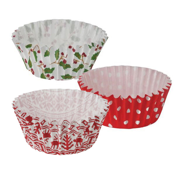 "2"" Ruffled Baking Cup Cake Set, Holiday"
