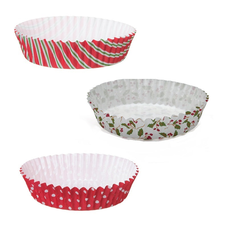 "4"" Ruffled Baking Cup Set, Holiday III"